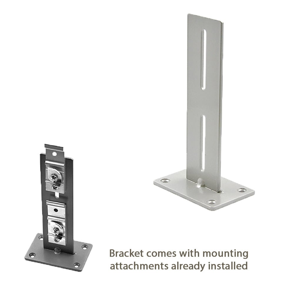 Dobule Center Wall Mount Bracket Diagram