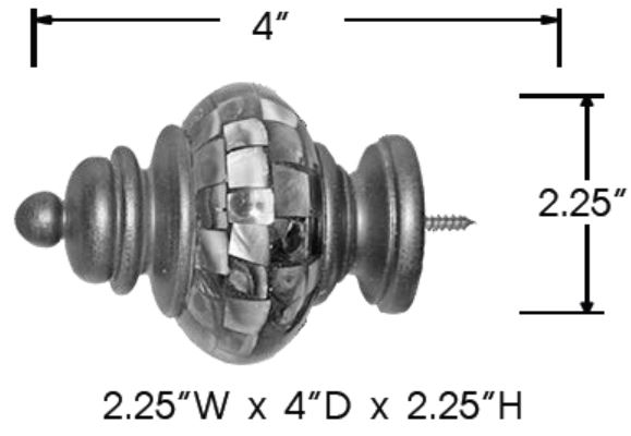 Sizing for Capiz Shell Finial