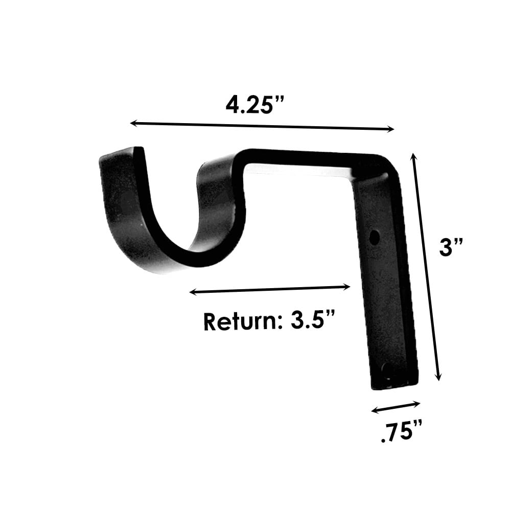"Sizing for 1-1/4"" Support Bracket"