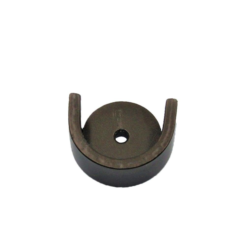 French Rod Inside Wall Mount Bracket  Brushed Nickel - Dark Bronze