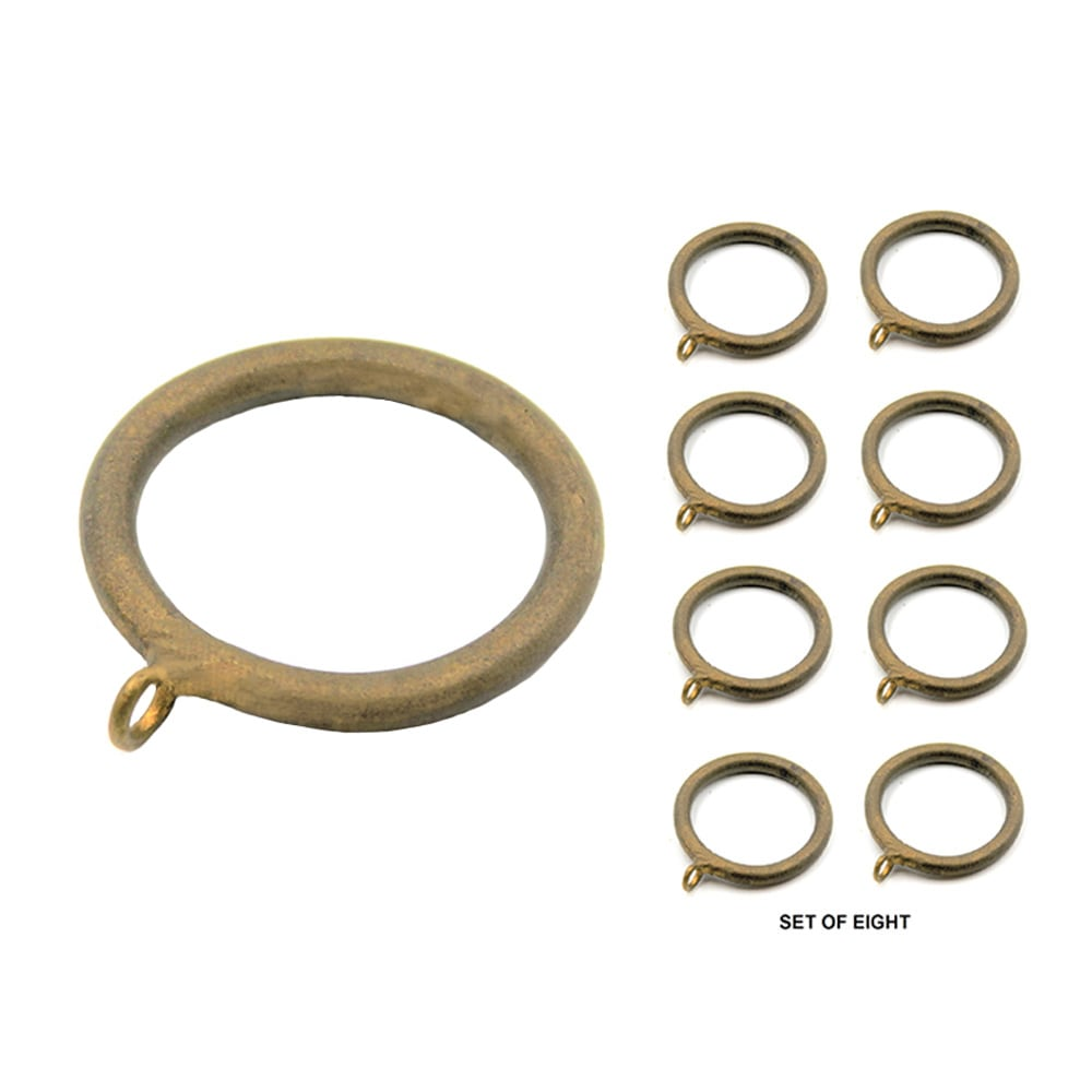 "Set/8 Metal Smooth Rings For 1-1/4"" Pole"