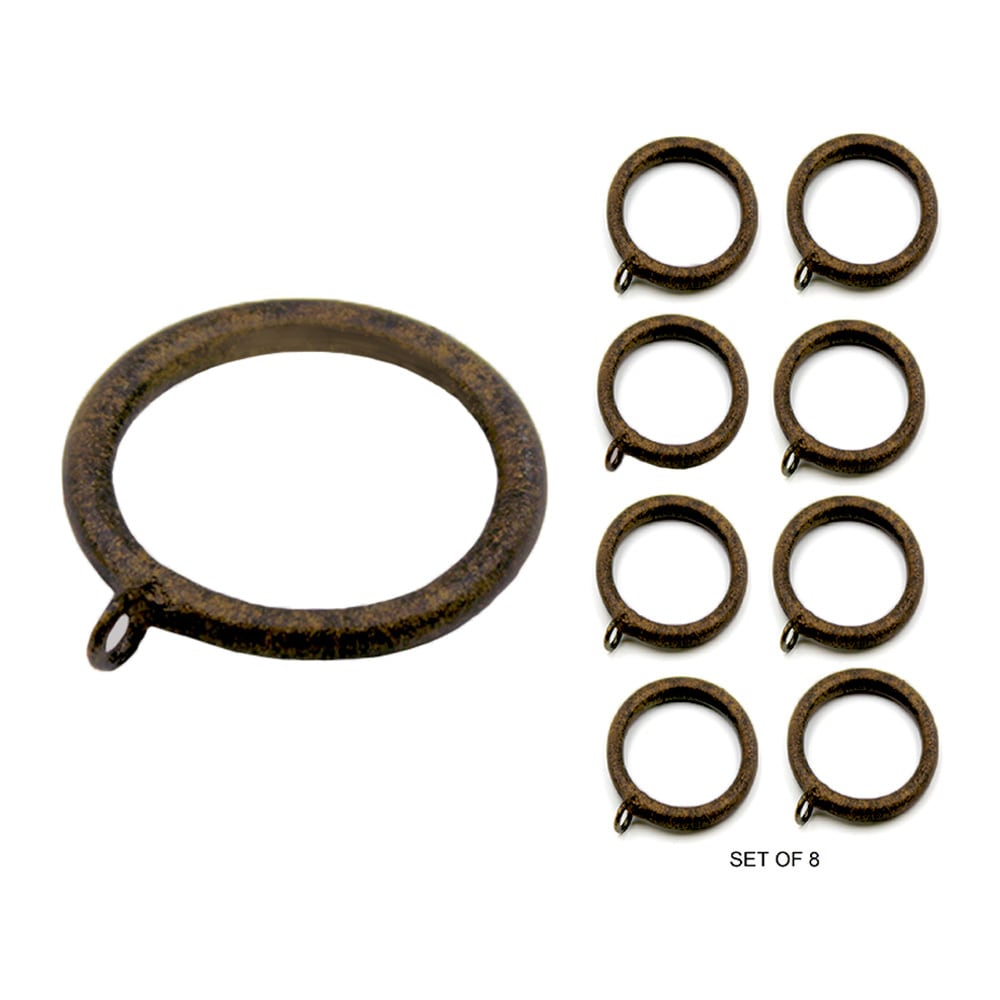 "Set/8 Metal Smooth Rings For 1-1/4"" Pole Ring"