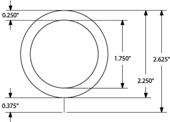 """Sizing for Set/8 Metal Smooth Rings For 1-1/4"""" Pole"""