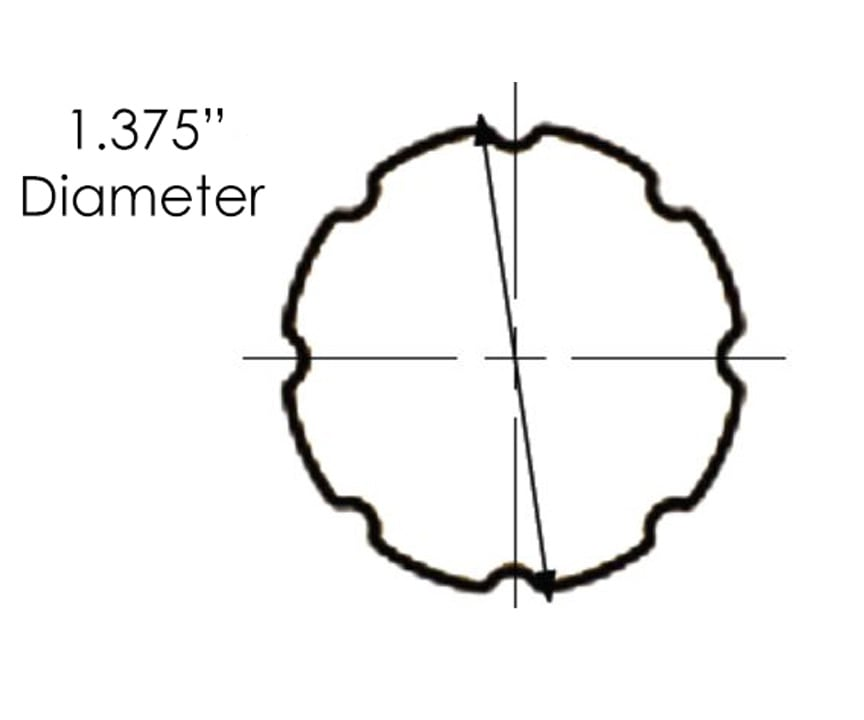 Sizing for Reeded Rod - 12 Ft