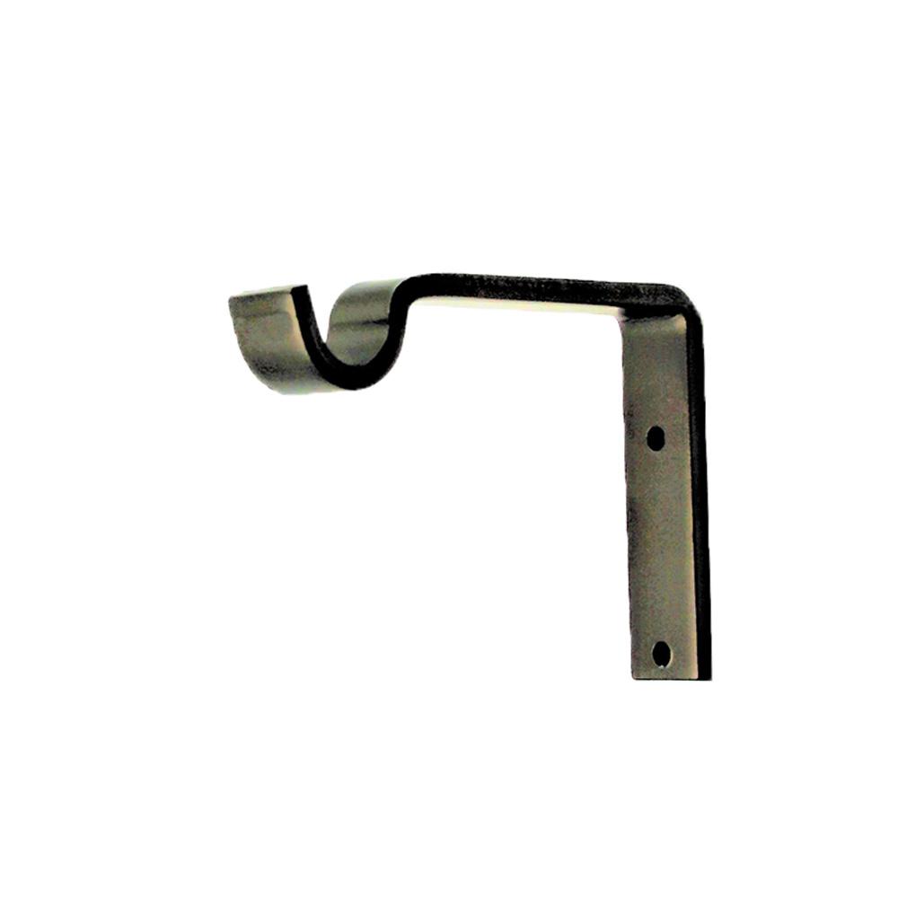 """Custom Return Support Bracket For 5/8"""" Rod - Dark Bronze"""
