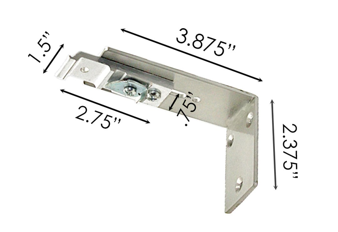 Sizing for Single Wall Bracket For Traverse