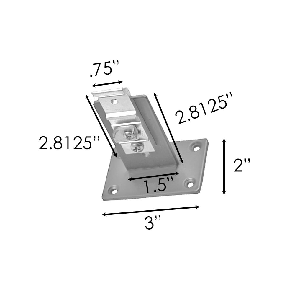 Sizing for Center Wall Bracket For Traverse