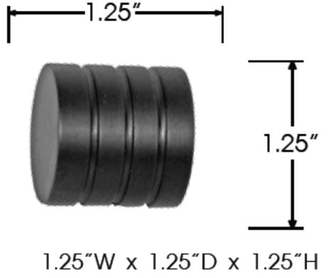 Sizing for Tech Ribbed End Cap