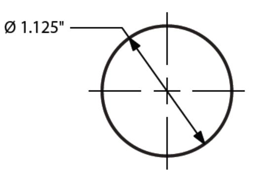 Sizing for Metal Rod - 4 Ft