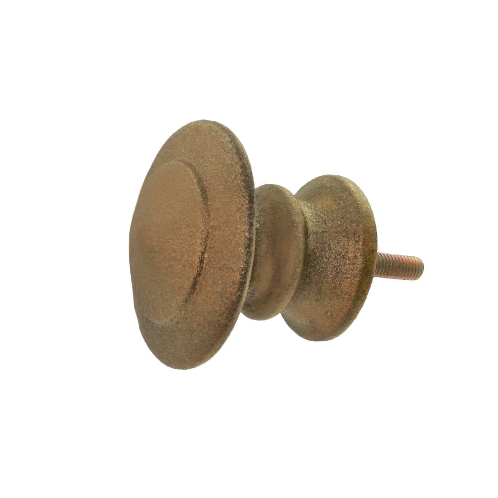 Mushroom Finial With Collar - Flaxen Gold