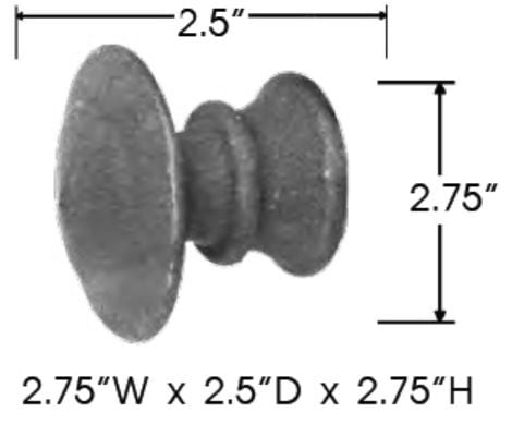 Sizing for Mushroom With Collar